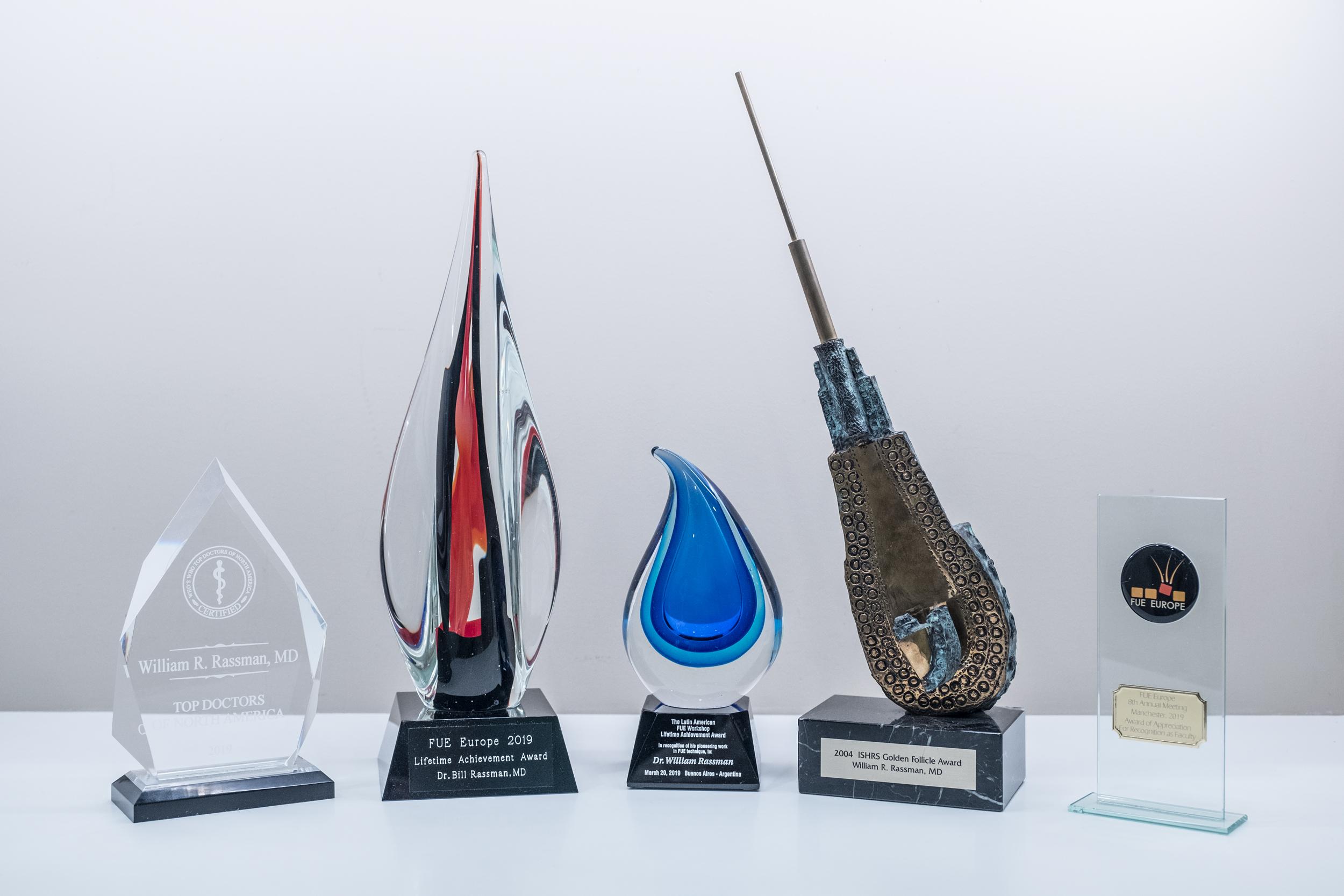Hair Restoration Awards won by Dr. William Rassman